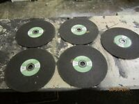 5 unused stone /wall/slab cutting discs bromley kent