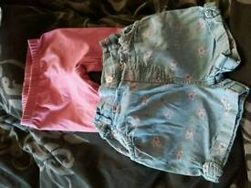 2 pairs of shorts, 18-24 months Girls
