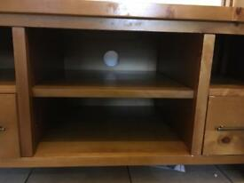 Solid wooden media unit