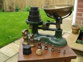 Kitchen scales with imperial and metric weights