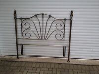 King size antique gold headboard