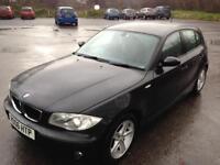 BMW 1 series 118d diesel long mot black 5 door