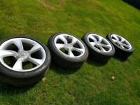 """Genuine 19"""" Vauxhall Alloy wheels and tyres"""