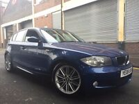 BMW 1 SERIES 2008 2.0 120d M Sport 5 door AUTOMATIC, FULL SERVICE HISTORY, LEATHER, WARRANTY