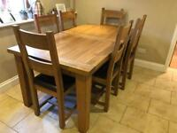 Oak Extendable Dining Room Table Chairs