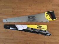 Stanley Fatmax breeze block concrete saw - used once, very good condition