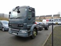 2012 DAF LF55-180 24FT CHASSIS CAB 14 TON