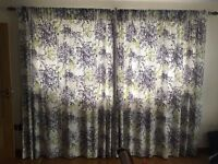 Next Floral Floor Length Curtains (2 sets) with matching King Size Duvet Set