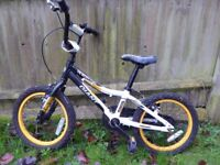 Boys 16 inch giant animator bike suitable for 5 yrs- 8yrs old