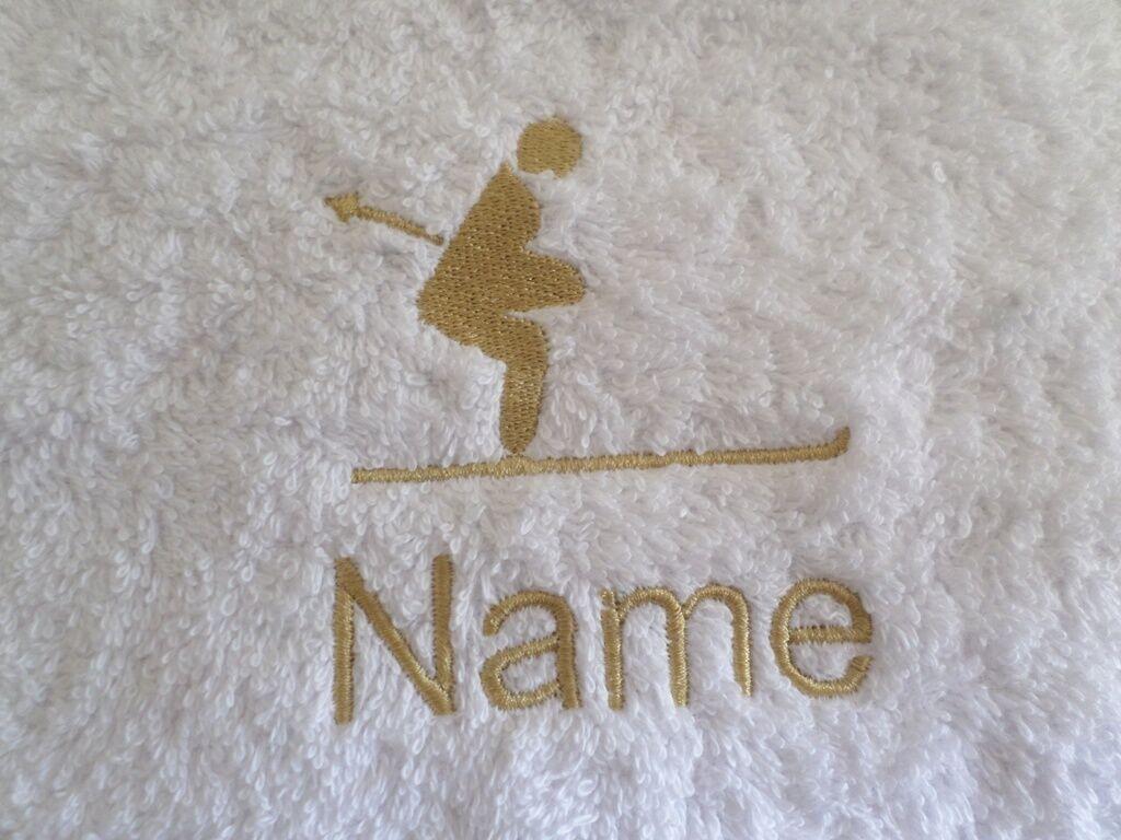 mit Kapuze Personalisiert Name Bademäntel Jack Russell Bestickt auf Handtücher