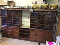 Glass and Wood Display Unit drawer unit