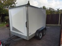 HANFORD BOX TRAILER CUSTOM MADE TWIN AXLE BRAKED EXCELLENT CONDITION