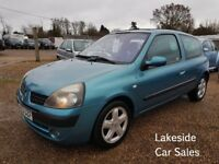 Renault Clio 1.2 Billabong 3 Door Hatch, Drives Superb, Will Have a New MOT, Cheap Insurance Group.