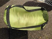 Sleeping bag with compression sack