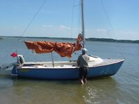 WANTED DAYBOAT OR DAYSAILER DEVON YAWL YW DAYBOAT UP TO 18 FEET WITH STEEL OR BALLASTED CENTRE