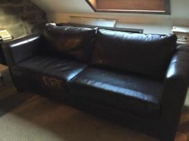 Large leather sofa HG3