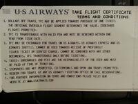 $800 U.S. AIRWAYS Flight Certificate