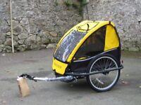 Trek Adventure Bike trailer - carries two children - unused