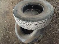 2 x bf Goodrich all terain tyres part worn