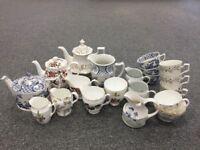 Collection of Bone China Vintage Tea Sets - 59 pieces