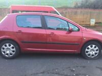 peugeot 307 red 1.4