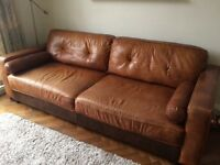 Beautiful 4 and 2 seater leather sofas