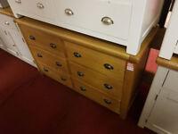 kent 3+3 drawer chest oak