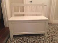 Excellent white Ikea storage bench