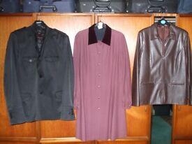 MENS ZARA Jacket , dark brown Leatherette and laura ashley dress coat