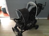 Graco double pram buggy pushchair