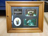 NICE GUINNESS PUB ADVERTISING PICTURE WOODEN FRAME