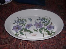 A large Portmerion dish with clematis floral design.