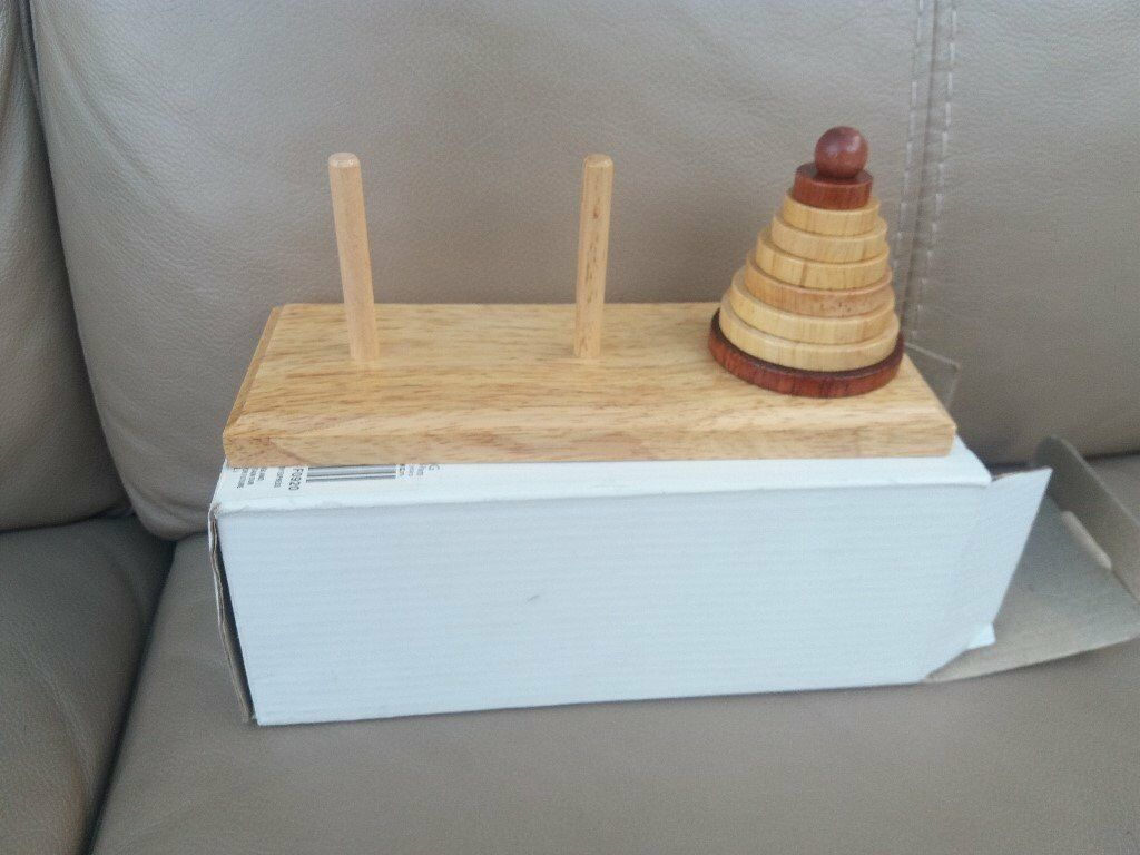 Wooden Tower of Hanoi puzzle