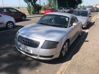 Silver Audi TT Quattro 1.8l petrol.