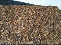 Lovely suede rug bargain £20