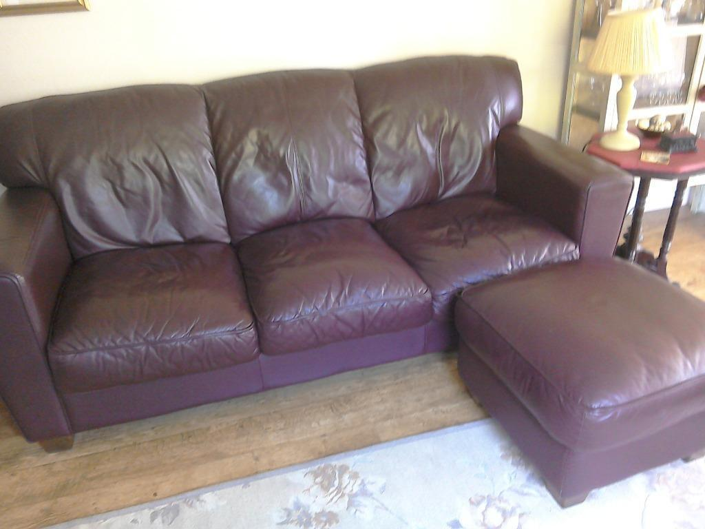 3 Seater Burgundy Leather Sofa For Buy Sale And Trade Ads