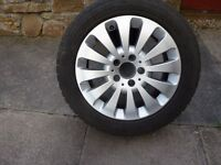 MERCEDES C CLASS (W204) ALLOY WHEELS & WINTER TYRES x 4 - 205/55/16