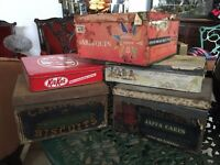 Antique / Vintage Biscuit Tines - Job Lot Of Vintage Biscuit Tins - Bargain