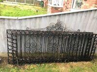 Solid metal garden gates