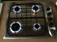 Indesit stainless steel gas hob very good condition full working order