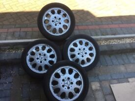MERCEDES A CLASS ALLOY WHEELS 15 INCH LATER STYLE