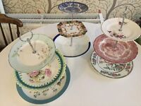 Vintage China/shabby chic cake stands