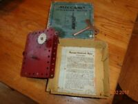 Meccano clockwork motor with original box and paper work 1920s
