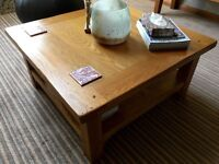 SOLID OAK COFFEE TABLE - ex M & S
