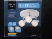 Verve Design 3xLED White Spotlight