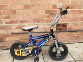 Blue child bike