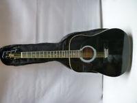 Stagg Black Acoustic Guitar & Carry case bag