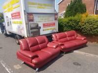Italian leather 3+2 seater sofa