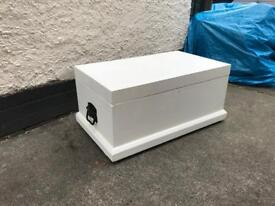 painted pine toy/blanket box