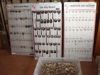 mortice & cylinder key cutting machines uncut key blanks dispolay boards £150 the lot